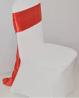 spandex chair bands with rhinestone buckle,cheap organza chair sash wedding chair cover at factory price