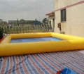 Yellow inflatable pool rental/adult plastic swimming pool price