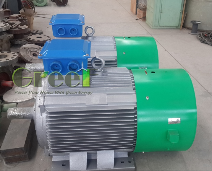 Mini hydro electric permanent magnet generator 12kw 300rpm with low rpm and 3 phase ac generator