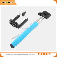 wholesale most popular wired mini selfie stick for smartphone accessories