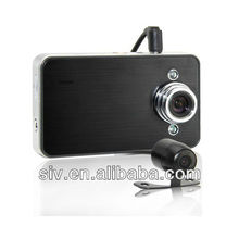 HD Car DVR dual camera with 2.4 inch screen motion detection double lens car camera recorder