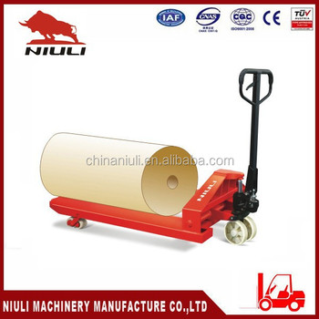 NIULI Paper roll pallet truck with CE