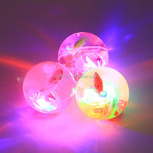 Funny cool Children's toys Led crystal Elastic ball Flash Bouncing ball with cute