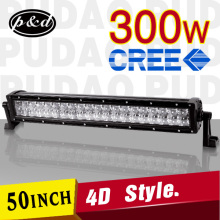 led light bar 4x4 4D design 300w Long life double rows light bar