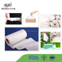 Water absorbent 100% Cotton Spunlace Hydrophilic Nonwoven Fabric
