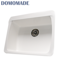 Lustrous Chemical resistance acrylic solid surface single bowl resin kitchen double utility sinks