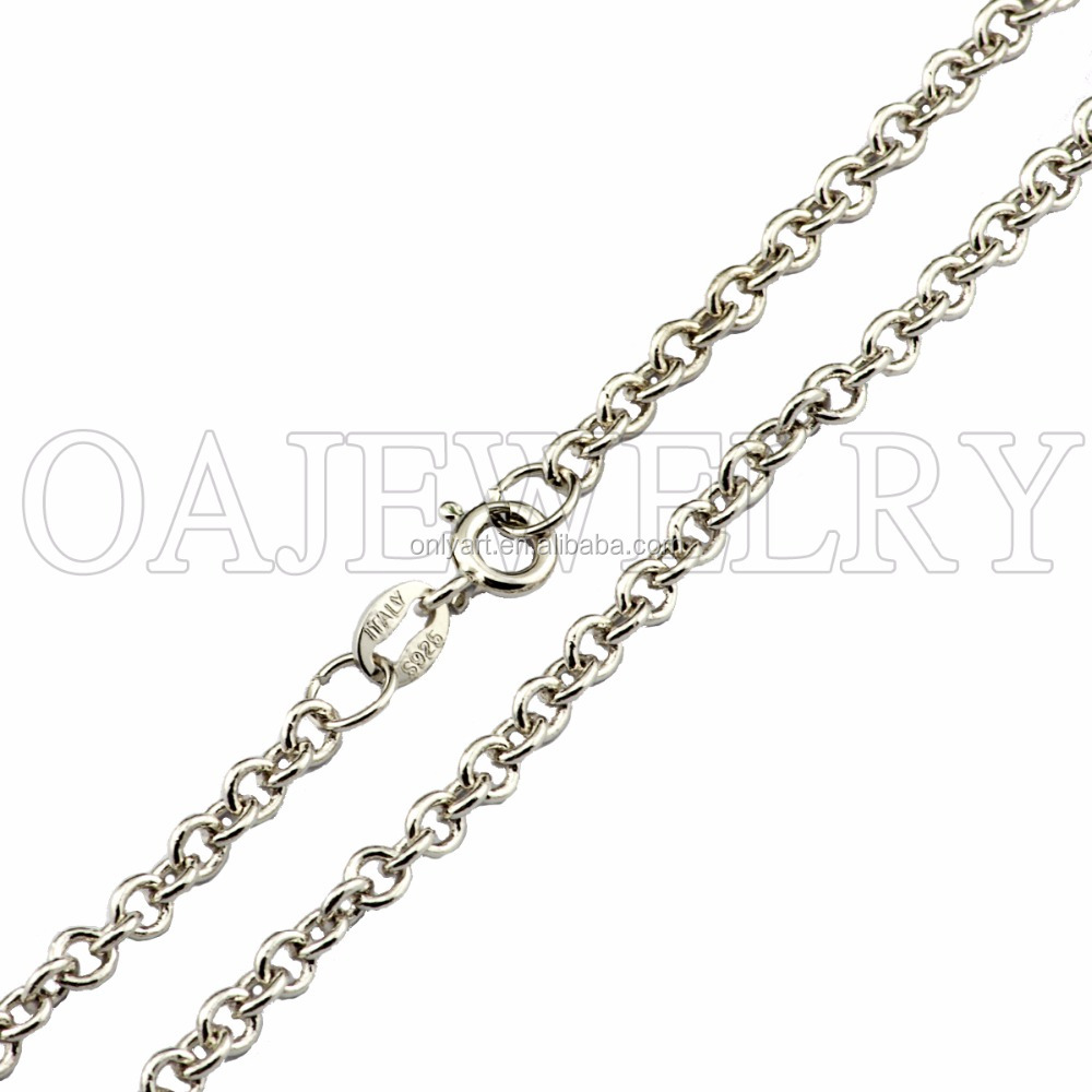 rose gold lady 925 solid Italian rolo chain sterling silver rolo chain