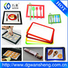 factory customized size baking oven mat, non-stick silicone baking mat baking cookie sheet