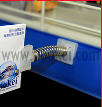 plastic display adhesive shelf wobbler for retail