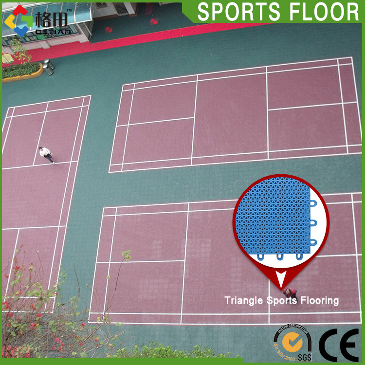 CE Standard Factory directly supply pp interlocking badminton court products