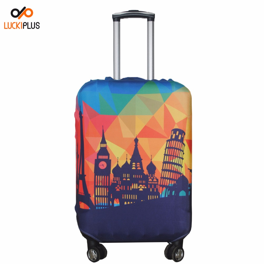 Luckiplus Polyester Spandex Luggage Trolley Case