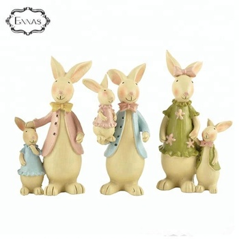 Resin handmade customized decoration easter rabbit bunny statue