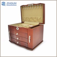 Custom Fashional Engraved or Mirrored Antique Jewelry Box on alibaba