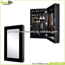 Black color leaves wall mirror made in China