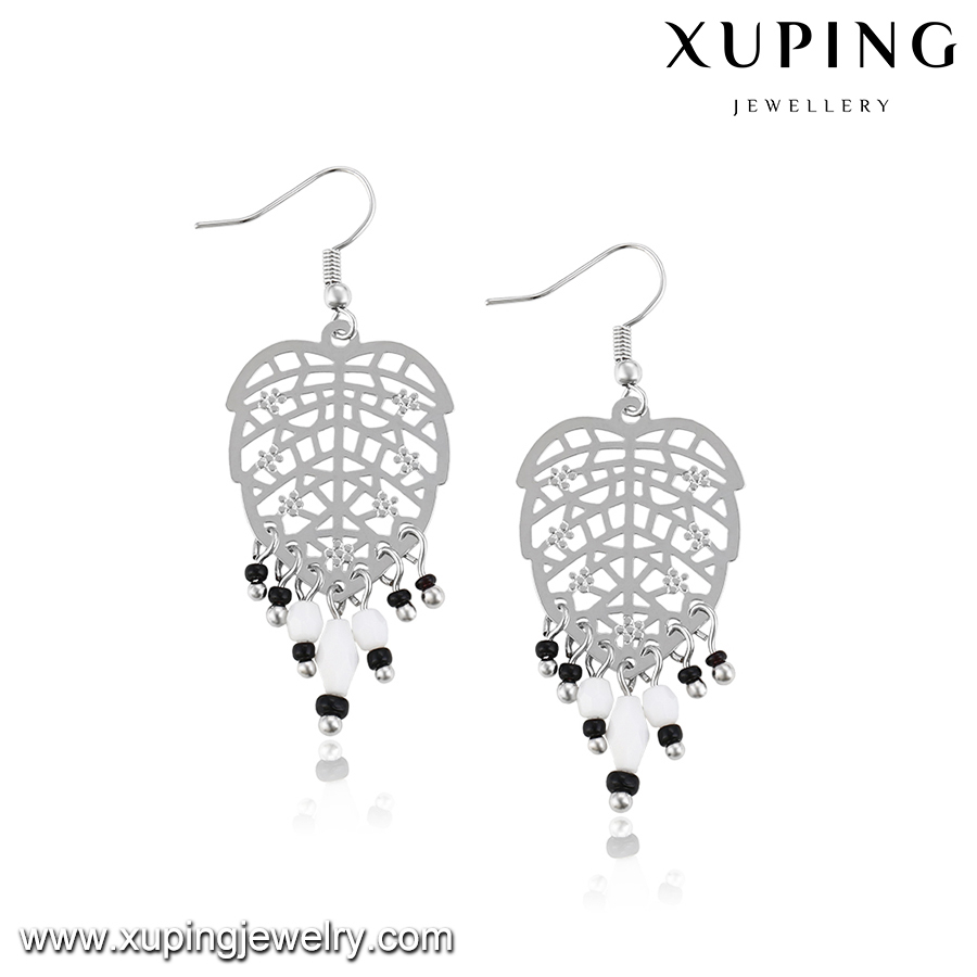 29013Xuping clip on earrings, leaf shape heavy hook earring for women jewelry bead indian earrings,types of earring hooks