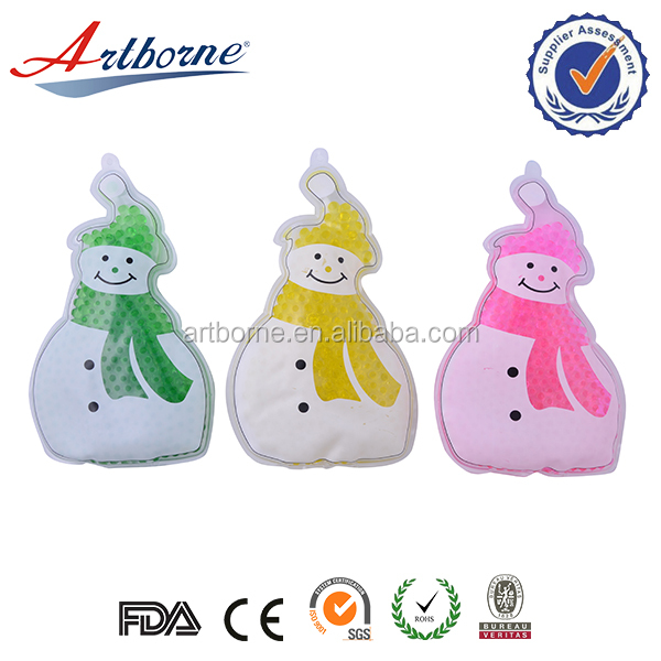 Customized cute snow man shaped reusable instant hand warmer magic heat pack