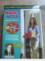 Premium Magnetic Screen Door - KEEP BUGS OUT Lets Fresh Air In. No More Mosquitos or Flying Insects. Instant Bug Mesh with Top-t