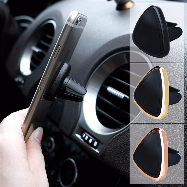 Triangle 360 Mini Magnetic Phone Holder Car Air Vent Mounts Universal Mobile Phone Holder