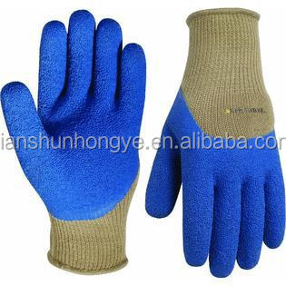 10G Cotton Knitted Industrial Latex Plam Coated Safety Glove