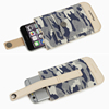New designer camouflage leather mobile pouch bag for men mobile phone case for Iphone 6