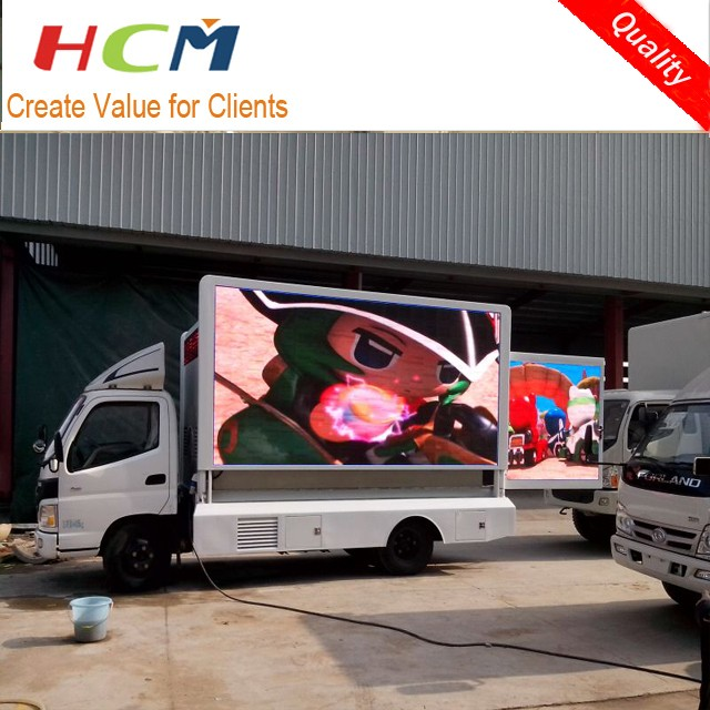 Video Function Outdoor Advertising Mobile LED Display Trailer