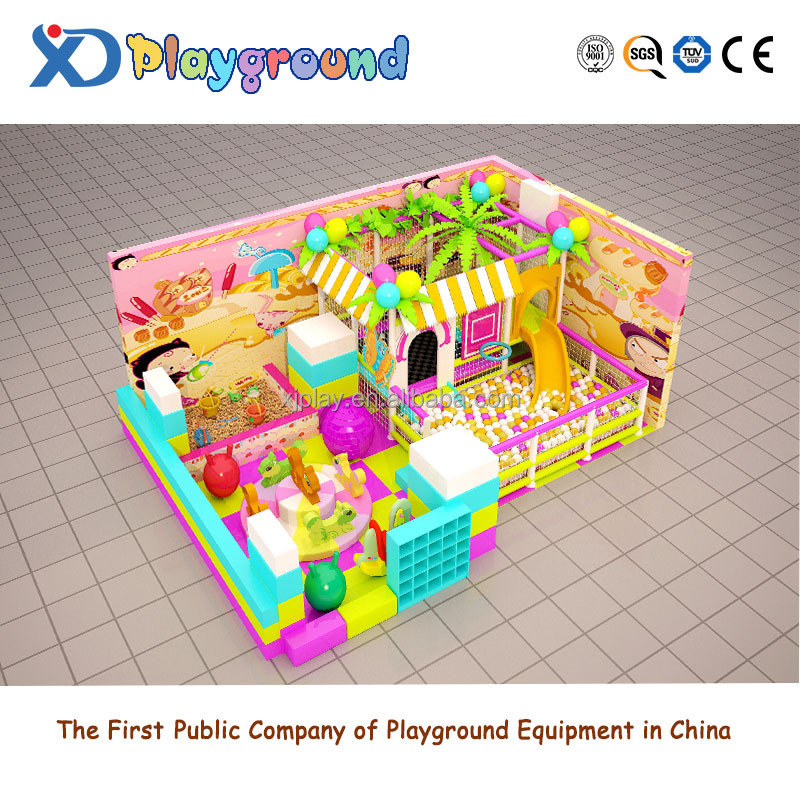 Funny safety small-size candy theme entertainment indoor playground for home