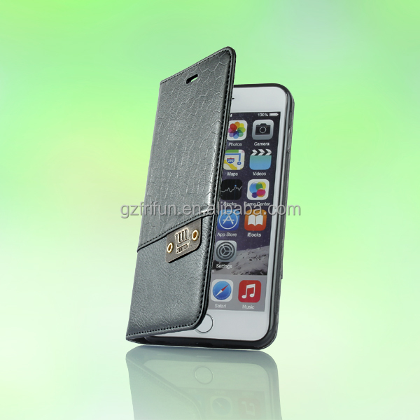 PU leather flip case,TPU soft material back cover for iphone