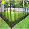 9 feet high of Powder coating residential black Aluminum fence