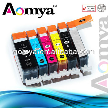 No bleeding Compatible Ink Cartridge for Canon PGI525/CLI526 BK/C/M/Y/G