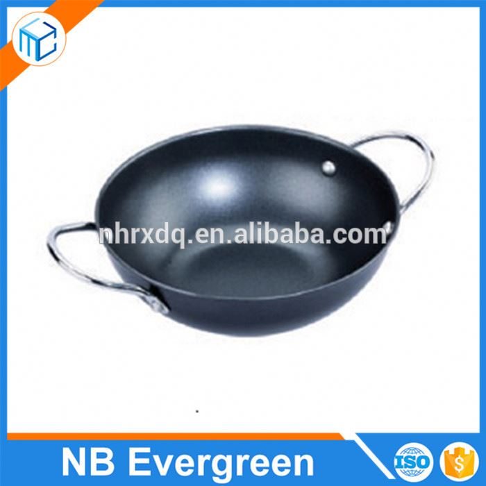 Hot selling non-stick stainless steel kitchen round pizza pan /frying pan