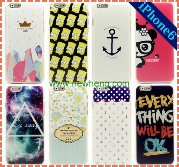 for iphone 6 custom printed design plastic phone case cover