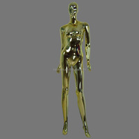 Chromed Plastic Female Full Body Mannequins