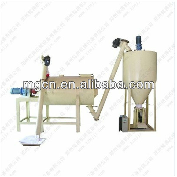 3t per hour Simple dry mortar making plant dry mortar production line mixing cement and sand made in China