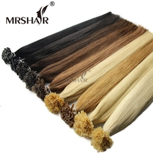 High Quality Fusion Keratin U Tip Hair Extension 1g/pc Soft Prebonded Italian Keratin Hair Extensions U Tip Hair Prebonded