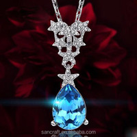 Blue Star best wish two colors crystal gemstone shinning gems jewelry