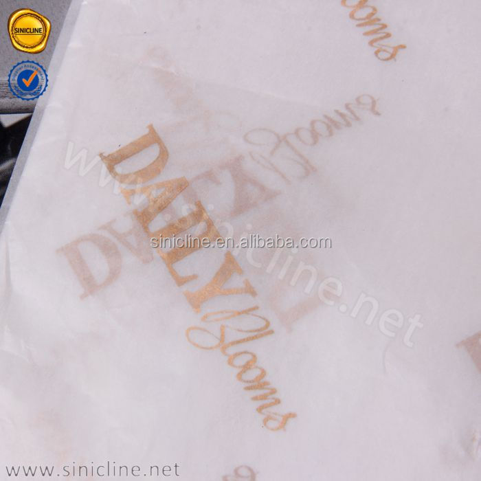 Sinicline custom gold logo clothing wrapping tissue paper wholesale