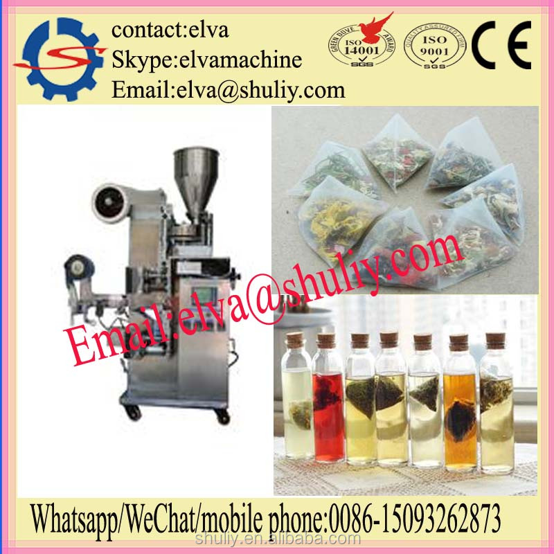 automatic tea bag packing machine with thread and tag