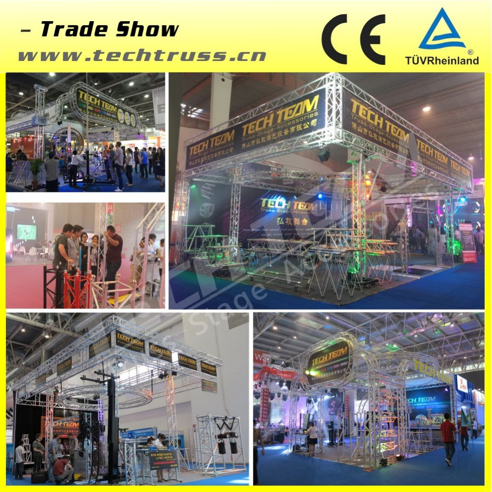 Portable Aluminum Folding Stage /X-Stage with Different Height Riser for Performance