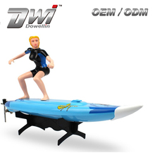 DWI 2310 RC Boat Surf Boat Surfboard Surfer 2.4G RC speed plastic boat