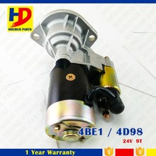 ISUZU Diesel Engine Kit 4BE1/ 4D98 Starter Motor For Sale 24V 9T