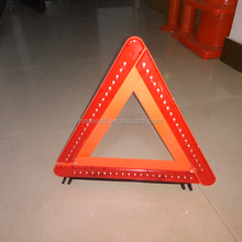 Portable LED warning flashing light triangle