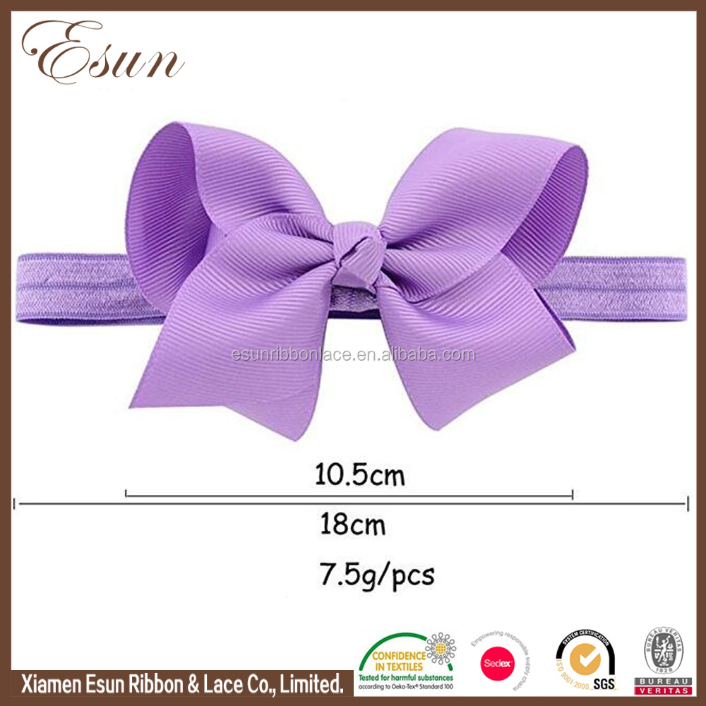 "Fashion baby girls hair accessories stretchy 4"" thin elastic headband"