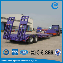 China 3 axle 60 tons low bed semi trailer dimensions