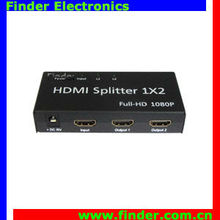 HDMI Spliter 2 Port HD 1080p Hdmi Splitter 3D 1x2 HDMI Splitter + DC 5V Adapter,1 In 2 Out Switcher Support V1.3b HDTV