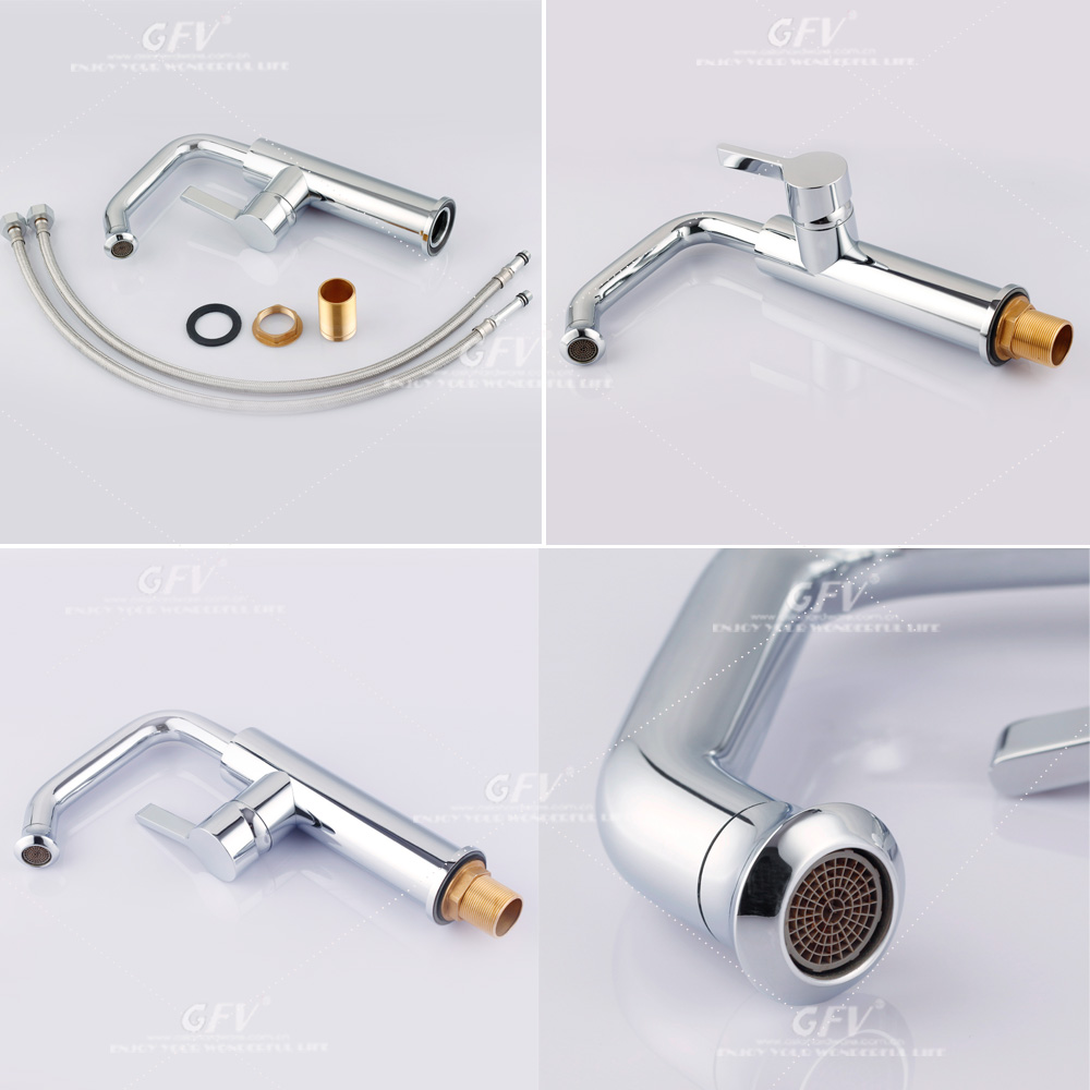 LT-DK06 New design Brass chrome plated basin mixer