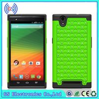 Cover For ZTE Blade Vec 4G Starriness Hybrid PC Silicon Hybrid Mobile Phone Case,Paypal Accepted
