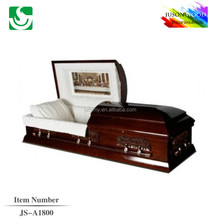 New design American mahogany best funeral casket bed