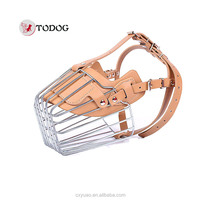 Stainless steel pet muzzle dog muzzle fashion dog mouth cover dog mask