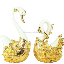Valentine's Day gift resin Tabletop Sculpture loving swan