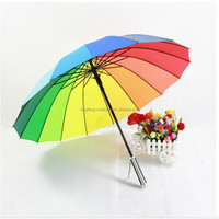 2016 new strong rainbow umbrella,hot sale auto open 16k rainbow umbrella,fashion creative rainbow umbrella